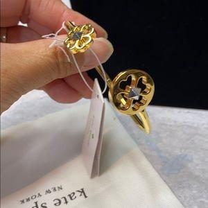 Kate Spade Spades & Studs Flex Cuff In Gold